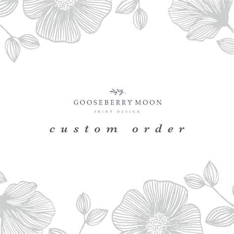 Custom Wedding Stationery by Custom Wedding Stationery Orders By Gooseberrymoon
