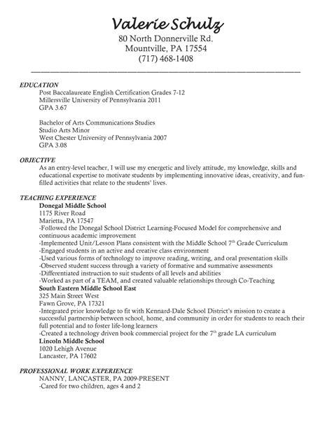 instructor resume sle tutor resume for teachers sales lewesmr