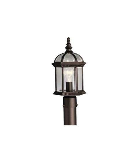 Kichler Led Outdoor Lighting Kichler 9935bkl16 Barrie 1 Light Led Outdoor Post Mount Lantern With Finish Black