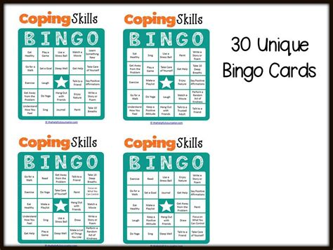 coping card template coping skills bingo pdf search results calendar 2015
