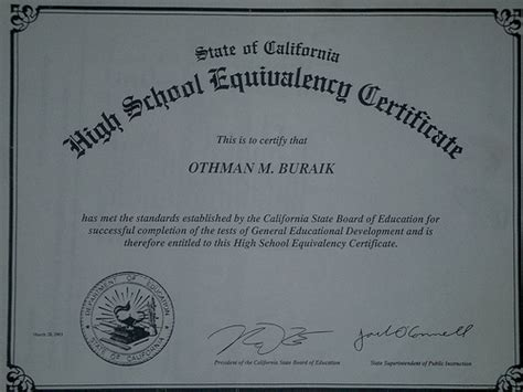 free ged certificate templates ged certificate the official certificate for the ged