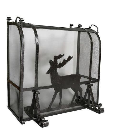 Deer Fireplace Screen by Arts And Crafts Wrought Iron Fireplace Screen For Sale At