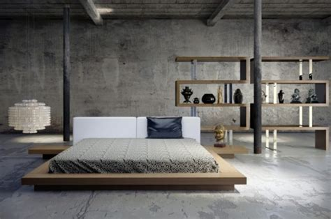 marvelous bedrooms  concrete wall   worth