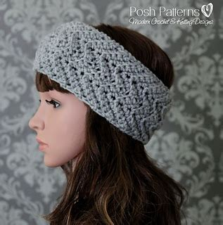 zig zag crochet headband pattern ravelry zig zag crochet headband 434 pattern by posh patterns