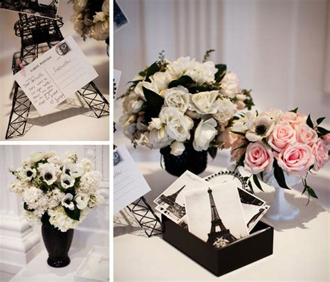 black and white bridal shower ideas bridal shower themes chanel or parisian inspiration
