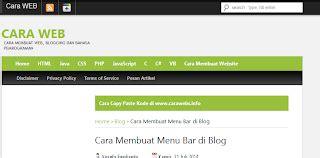 cara membuat menu drop down website cara membuat menu bar di blog cara web