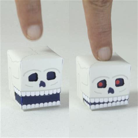 Paper Craft Skull - paper automata skull