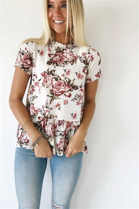 top ideas cute floral shirts for women www pixshark com images