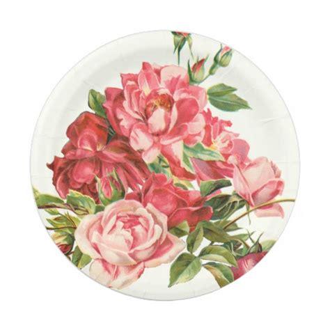 design love fest paper plates elegant disposable plate floral paper plate zazzle
