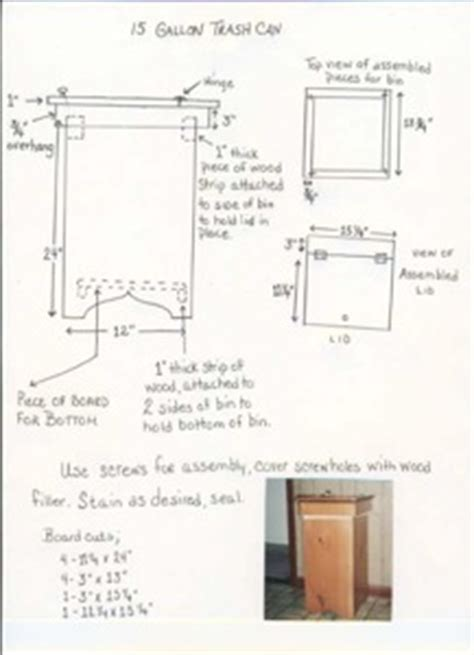 Kitchen Cabinet Trash Can Pull Out free trash can plans woodworking plans and information at