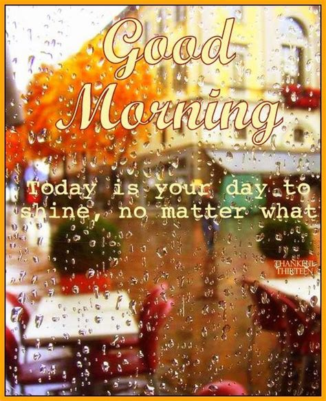 good morning no matter what good morning today is your day to shine no matter what