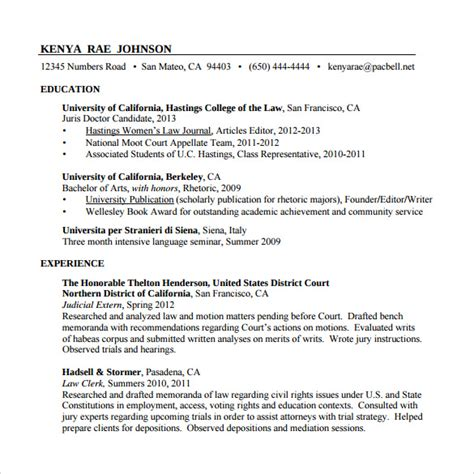 paralegal resume template sle paralegal resume 11 free documents in
