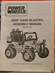 Power Wheels Jeep Manual Insinkerator Model 1 79 Manual On Popscreen