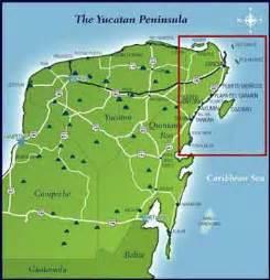 Riviera Maya Mexico Map by Where Is The Riviera Maya