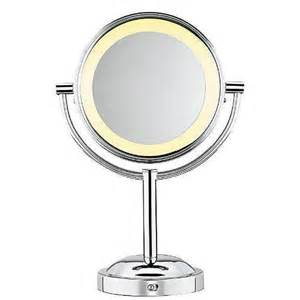 Makeup Mirror With Lights Conair Conair Sided Battery Operated Lighted Makeup Mirror