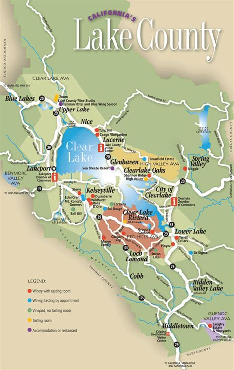 lake county california map lake county wine country map california winery advisor