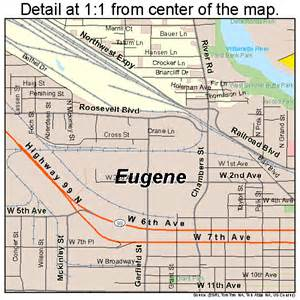 eugene oregon map 4123850