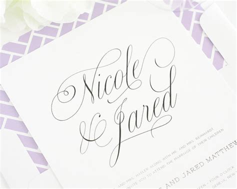 beautiful fonts for wedding invitations beautiful wedding invitation light purple wedding
