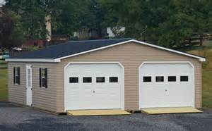 Car Garages 24x30 Vinyl Modular 2 Car Garage Byler Barns
