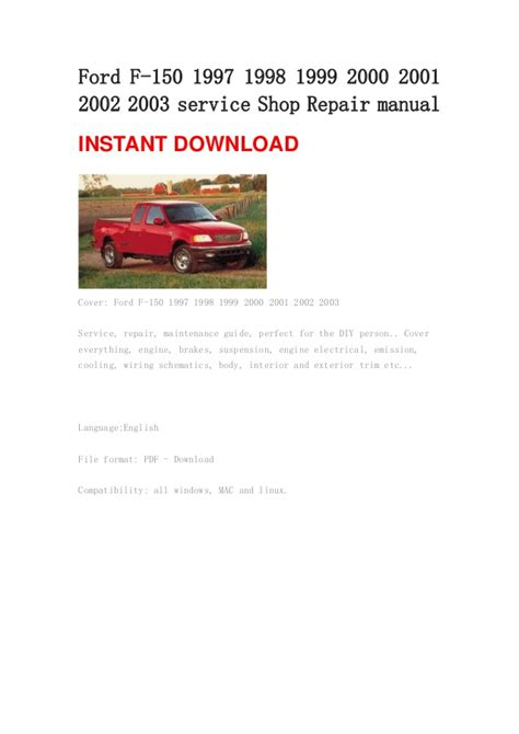 service repair manual free download 1997 ford econoline e150 spare parts catalogs ford 1999 f150 owners manual pdf download autos post