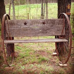 interracial breeding bench homemade antique bench out of wagon wheels and barn wood