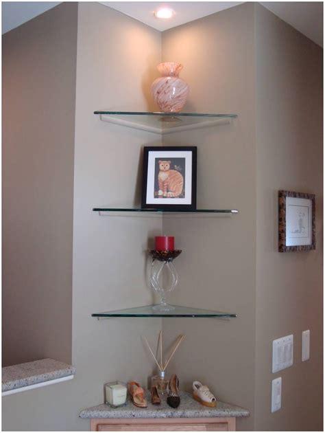 decorative corner shelves wall