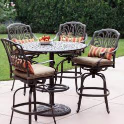 bar height patio sets shop darlee 5 elisabeth cushioned cast aluminum