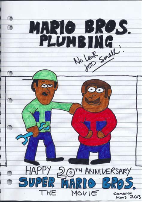 Mario Brothers Plumbing by Mario Bros Plumbing 20th Anniversary Fanartwork By