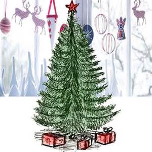For kids draw a christmas tree in pencil and color it how to draw