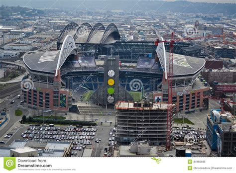 centurylink field seattle washington editorial photo