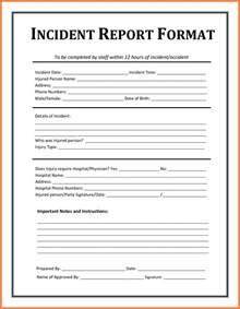 word report template 6 incident report template microsoft word progress report