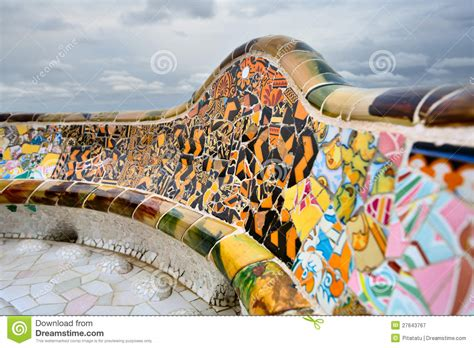 gaudi bench the bench by gaudi in parc guell barcelona stock photography gaudi