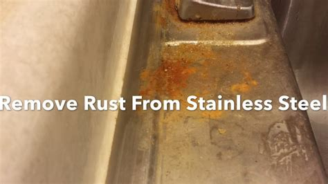 will stainless steel rust how to remove rust from a stainless steel sink clean