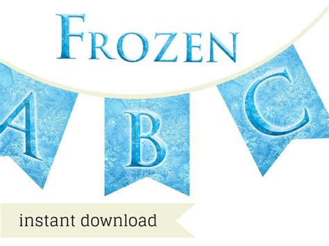 printable frozen banner letters frozen font banner magical printable