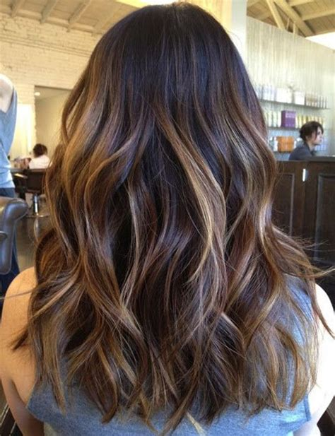 brunette hairstyle with lots of hilights for over 50 25 best ideas about balayage dark hair on pinterest
