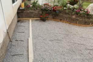 Diy Concrete Backyard Remodelaholic Diy Concrete Patio Part One