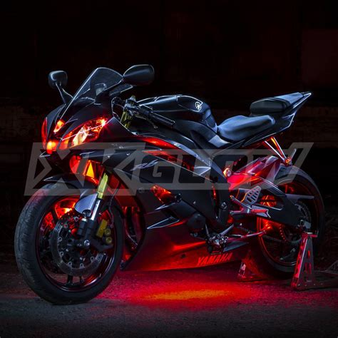 beleuchtung motorrad 8 compact pods 2 led custom motorcycle led neon