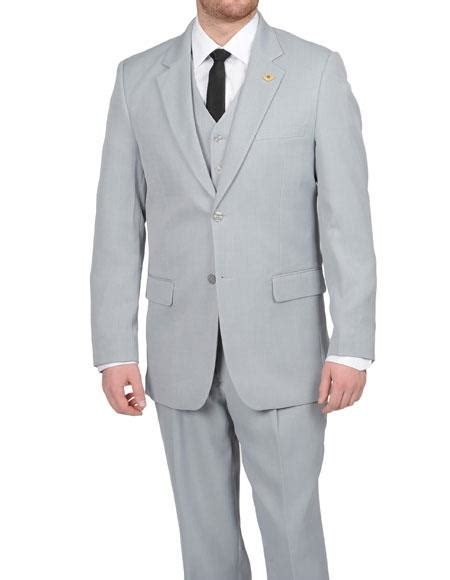 light gray vested suit silver grey light gray vested suit