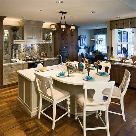 Round Island Kitchen Table Kitchen Pinterest Kitchen Table Island Ideas
