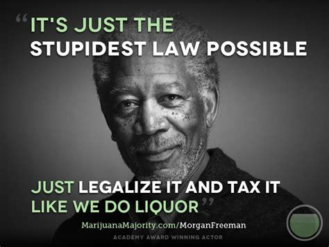 Legalize Weed Meme - morgan freeman stupidest law possible celebrities