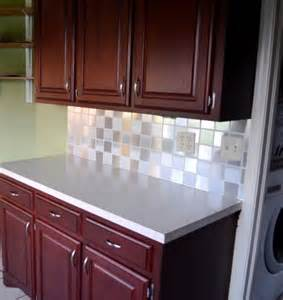 inexpensive backsplash from quot stainless steel quot contact