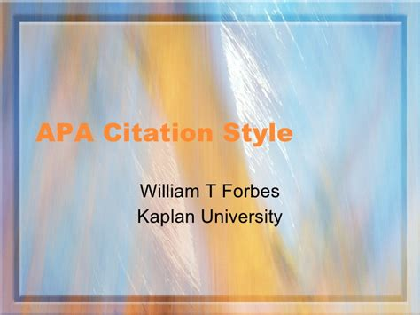 apa format kaplan university apa citation style