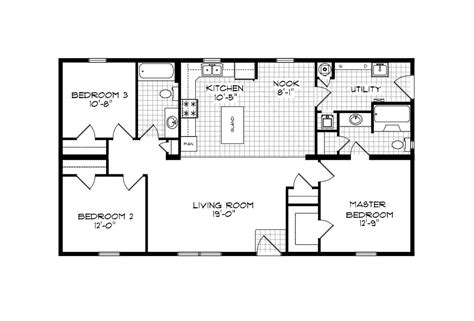 100 1999 redman mobile home floor plans mobile home