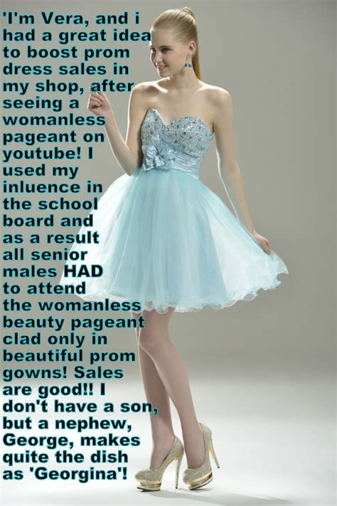 tg captions prom dress pin by bart versluis on crossdressing pinterest