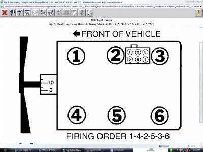 ford 4 0 v6 firing order solved need firing sequence for ford ranger xlt v6 3 0
