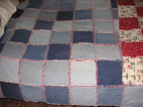 Denim Rag Quilt Pattern by Denim Rag Quilt Projects For Me