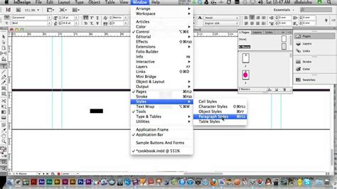 How To Insert Table In Indesign by Indesign Cs6 Page Numbering Section Markes And Table Of