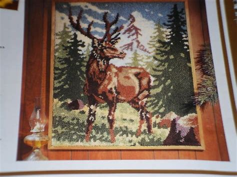 large latch hook rug canvas large latch hook canvas rug pattern crafters maral stag deer 3 ft x 4 ft canvas ebay