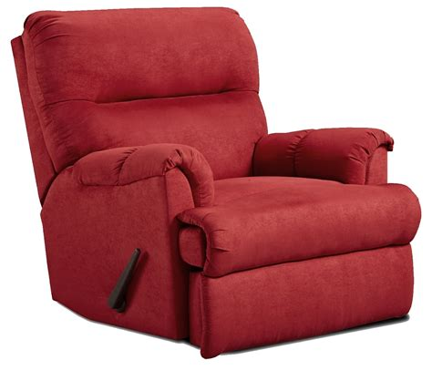 red microfiber recliner affordable furniture 2155 sensations microfiber recliner