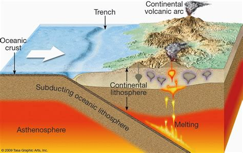 convergent boundary diagram granites and convergence zones exle of the himalaya